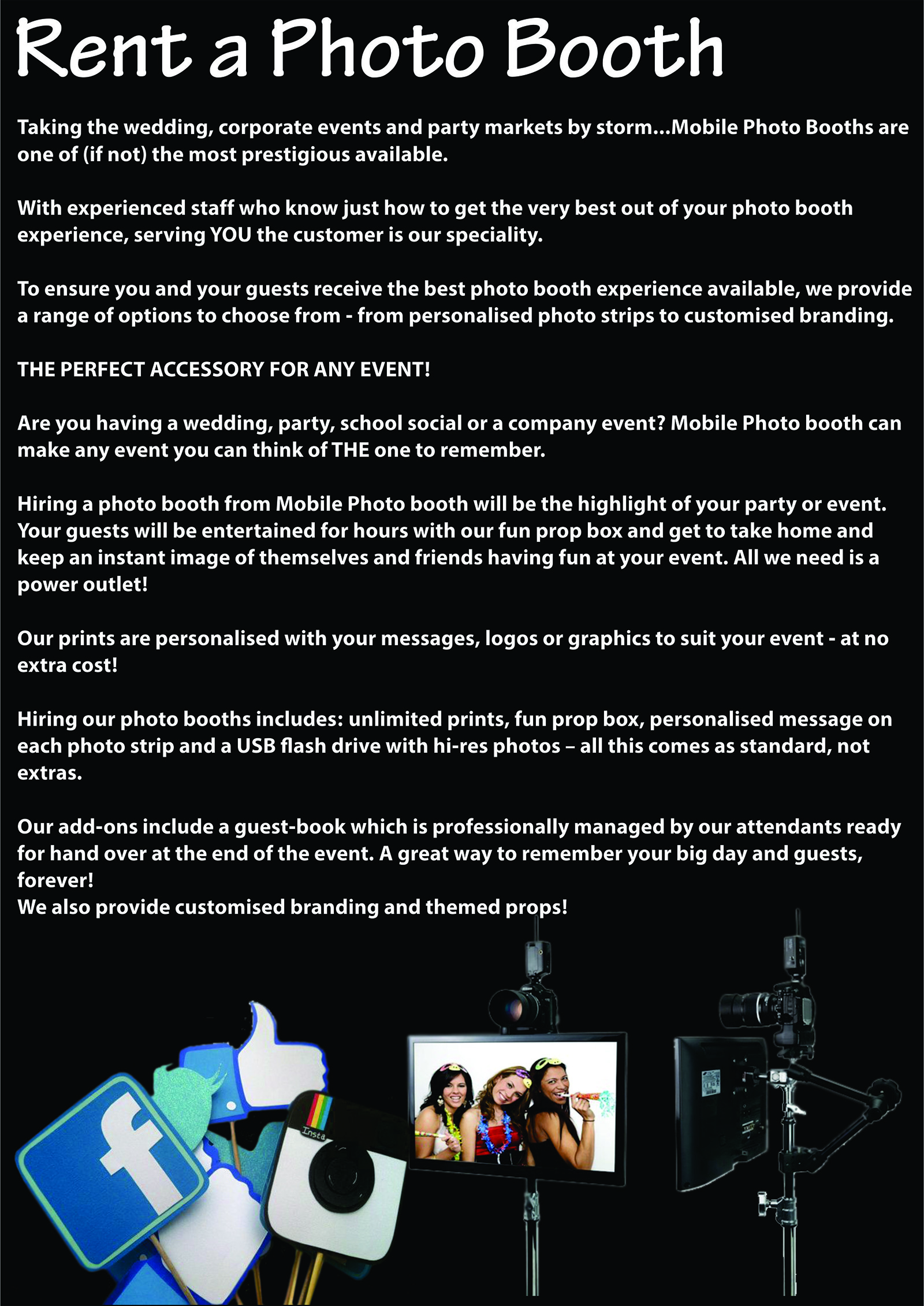 Info When Renting A Booth Mobile Photobooth Bloemfontein